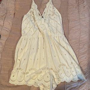 NWT Tularosa white lace romper